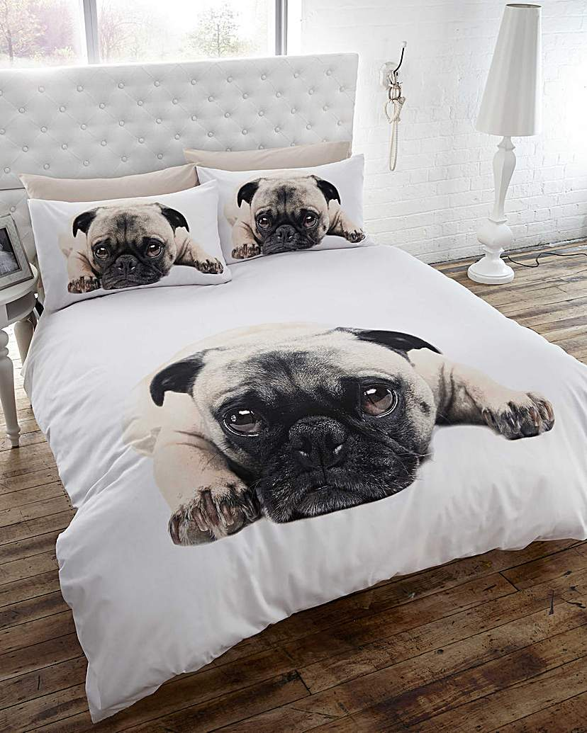 Image of Thru The Lens Pug Duvet Set