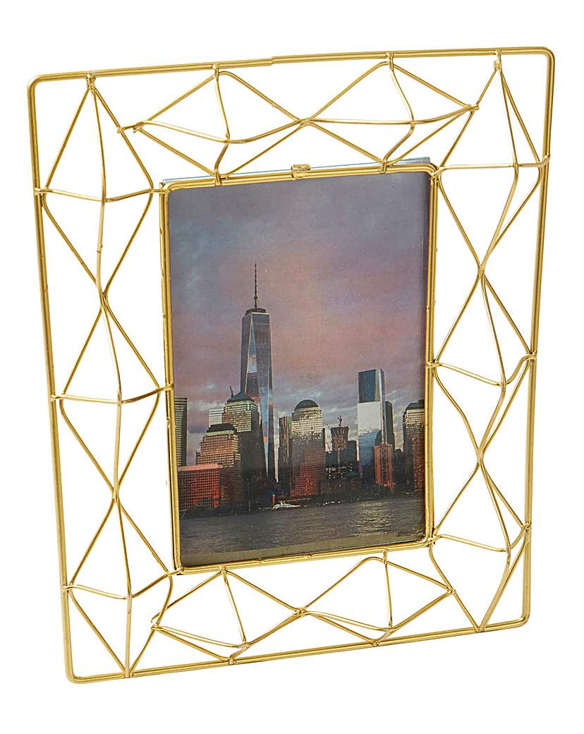 Image of Gold Wire Photo Frame 4x6in