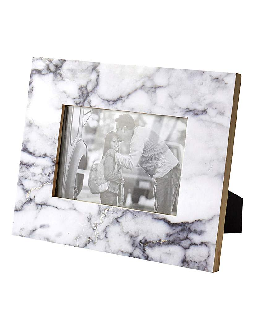 Image of Marble Effect Photo Frame 4x6in