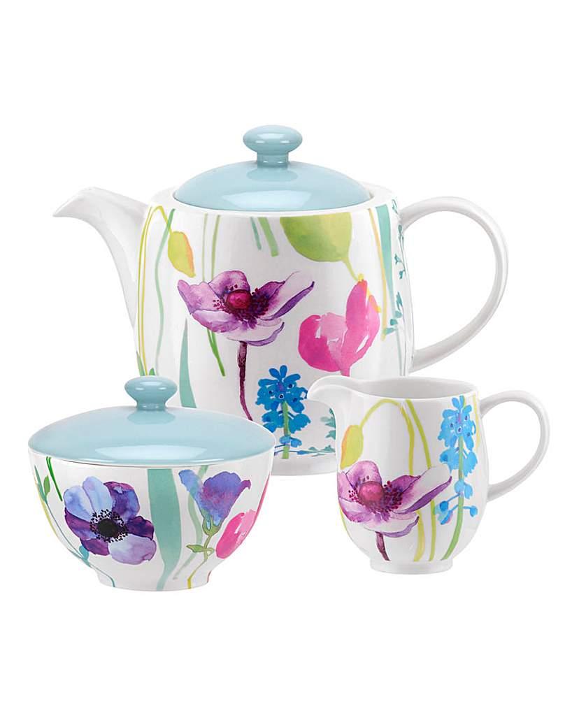 Portmeirion Water Garden 3pc Tea Set