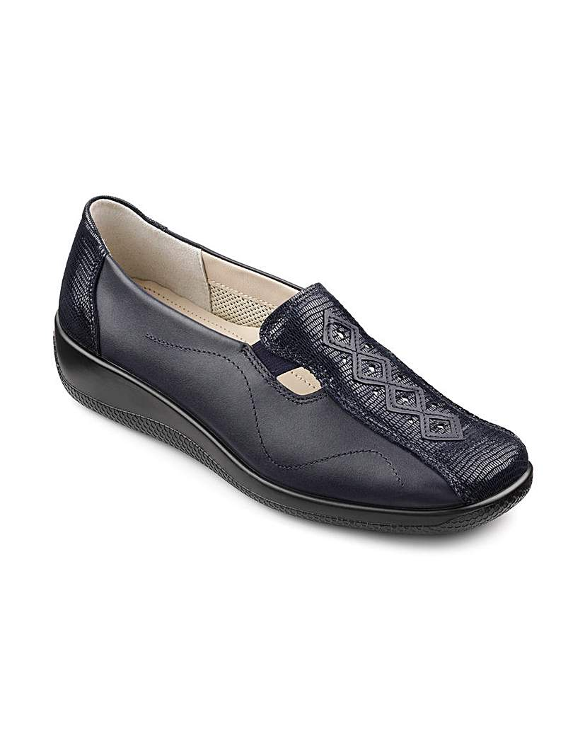 Hotter Calypso Leather Slip On Shoes