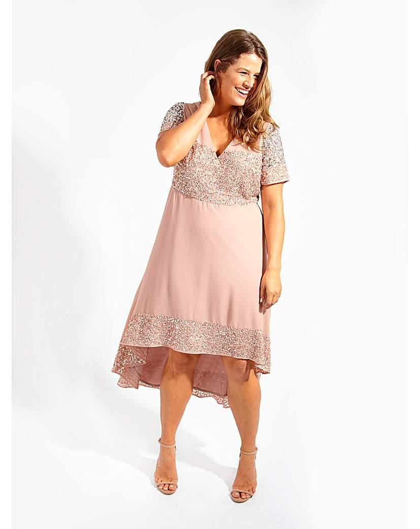 Image of Lovedrobe Luxe Mauve Swing Dress