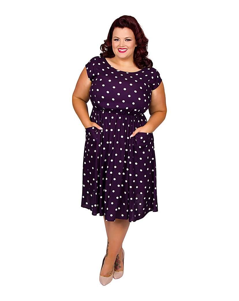 Image of Scarlett & Jo Spot Pocket Dress