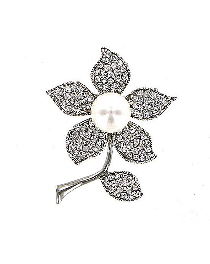 Lizzie Lee Full Pearl Flower Brooch