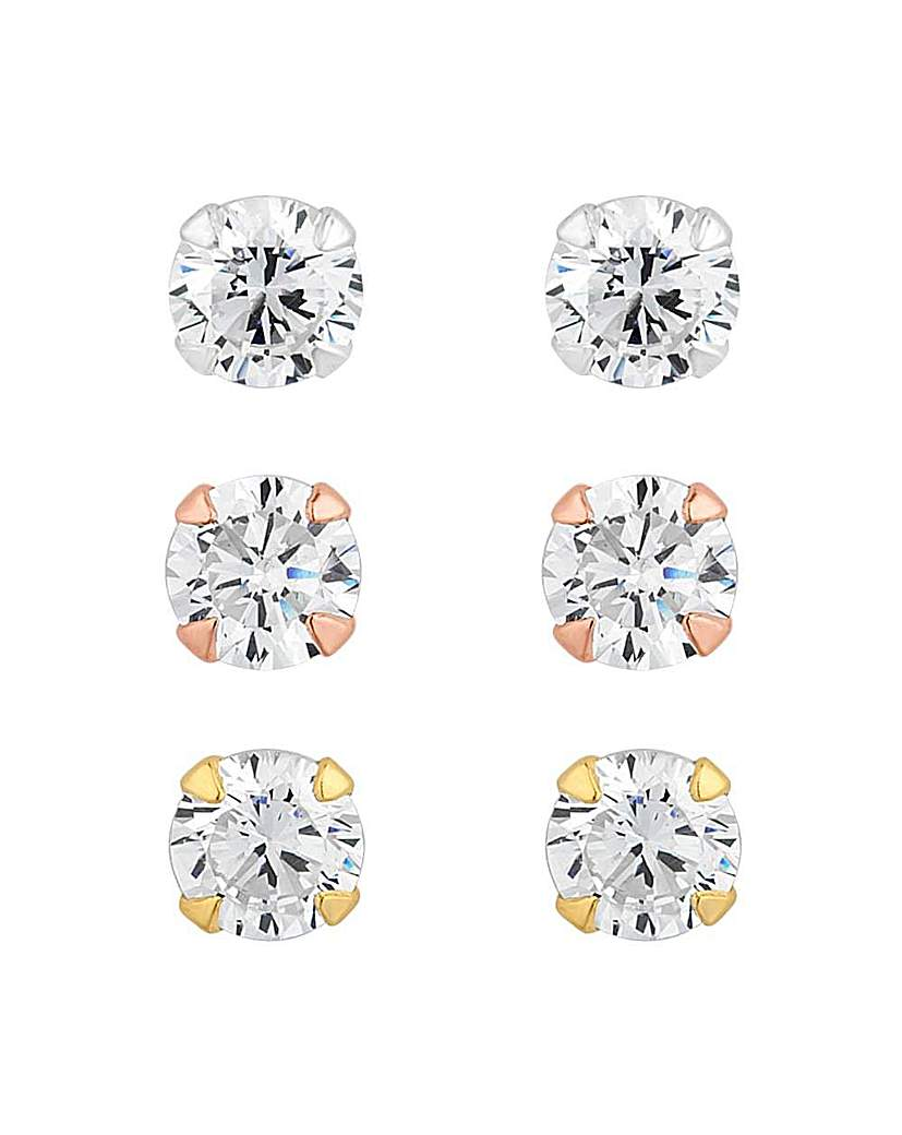 Image of Simply Silver stud earring pack