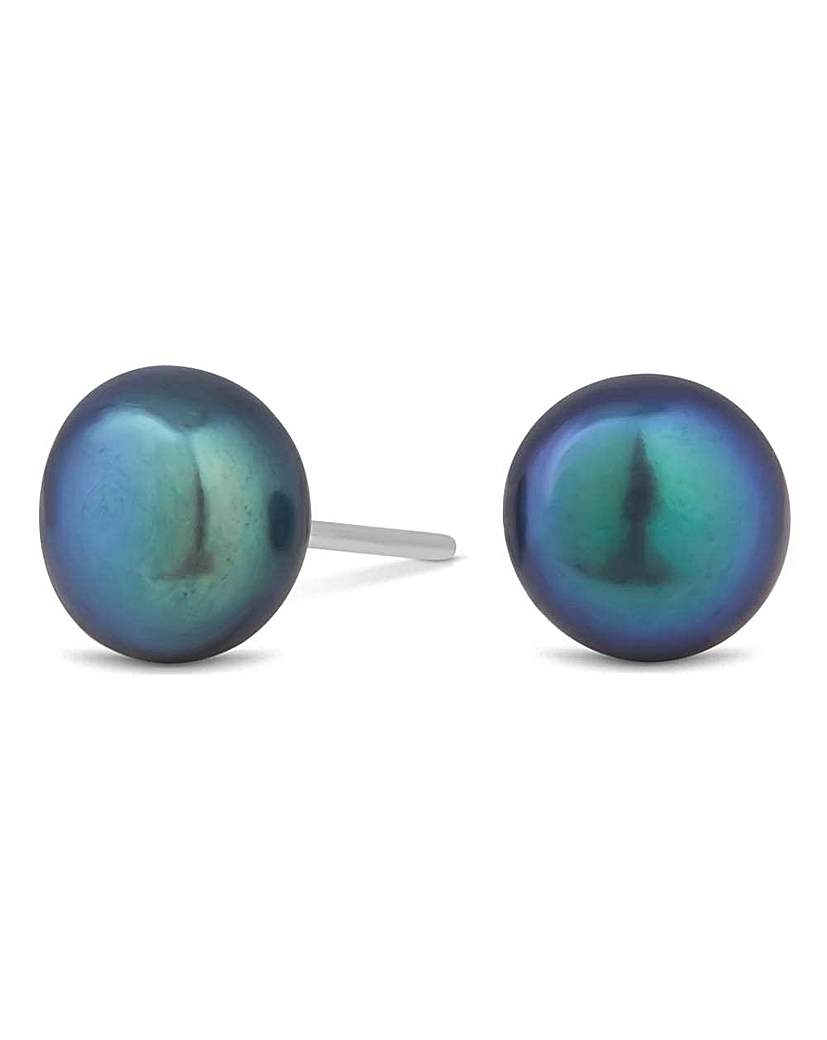 Image of Simply Silver pearl stud earring