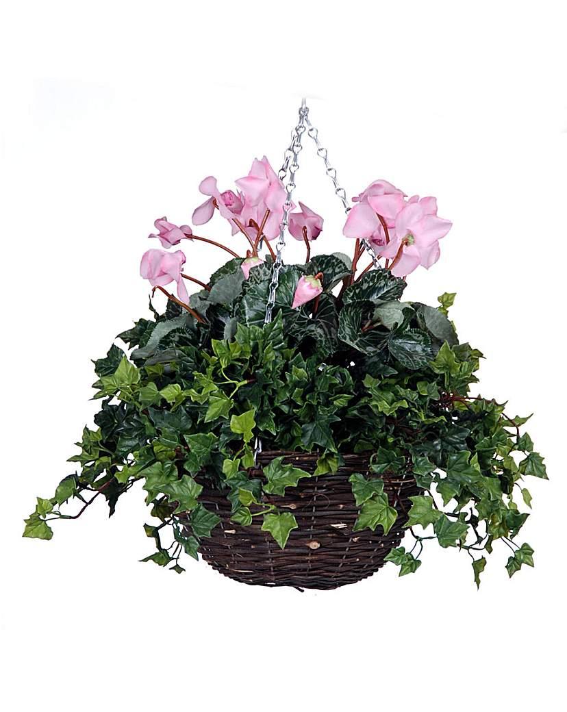 Image of Artificial Plant Cyclamen Basket
