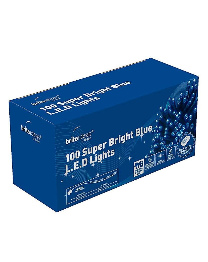 100 Blue Multiaction Lights