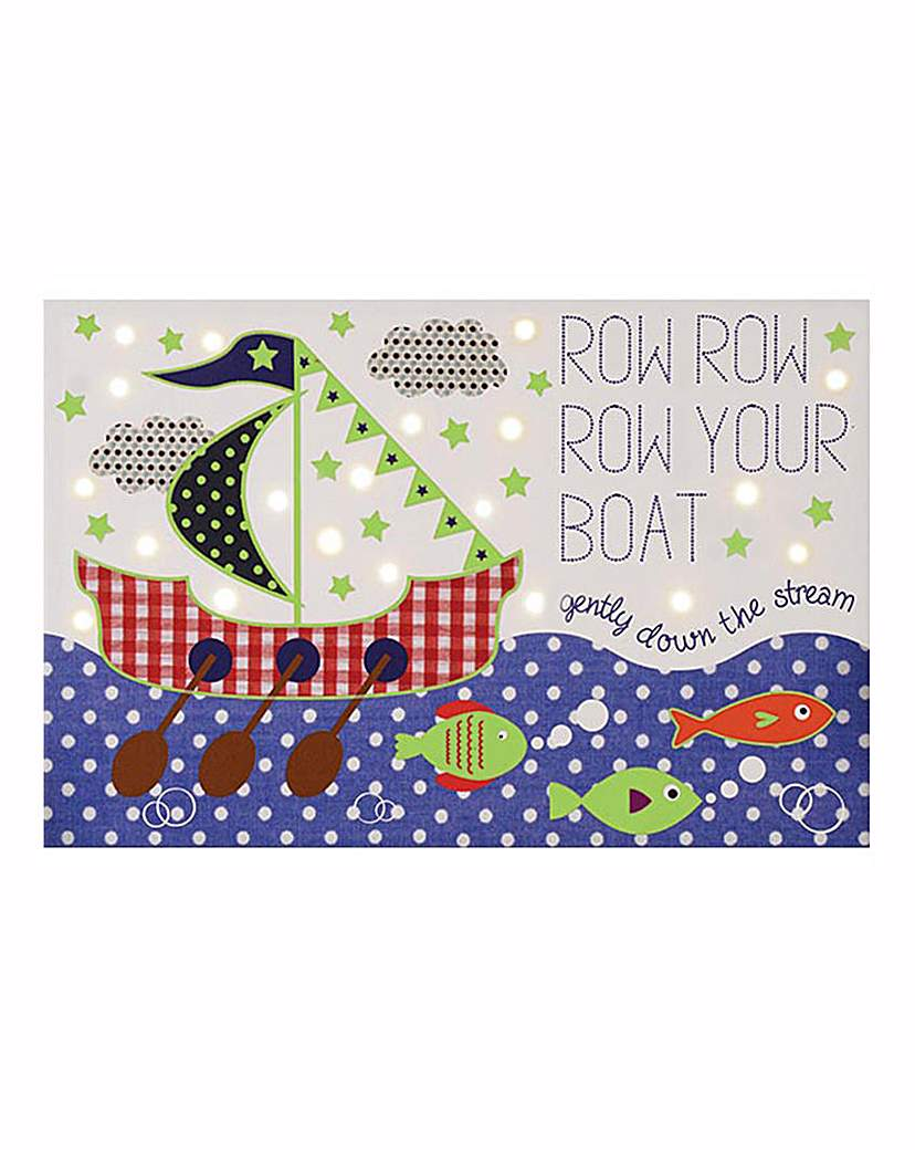 Row Your Boat Glow in the Dark Canvas