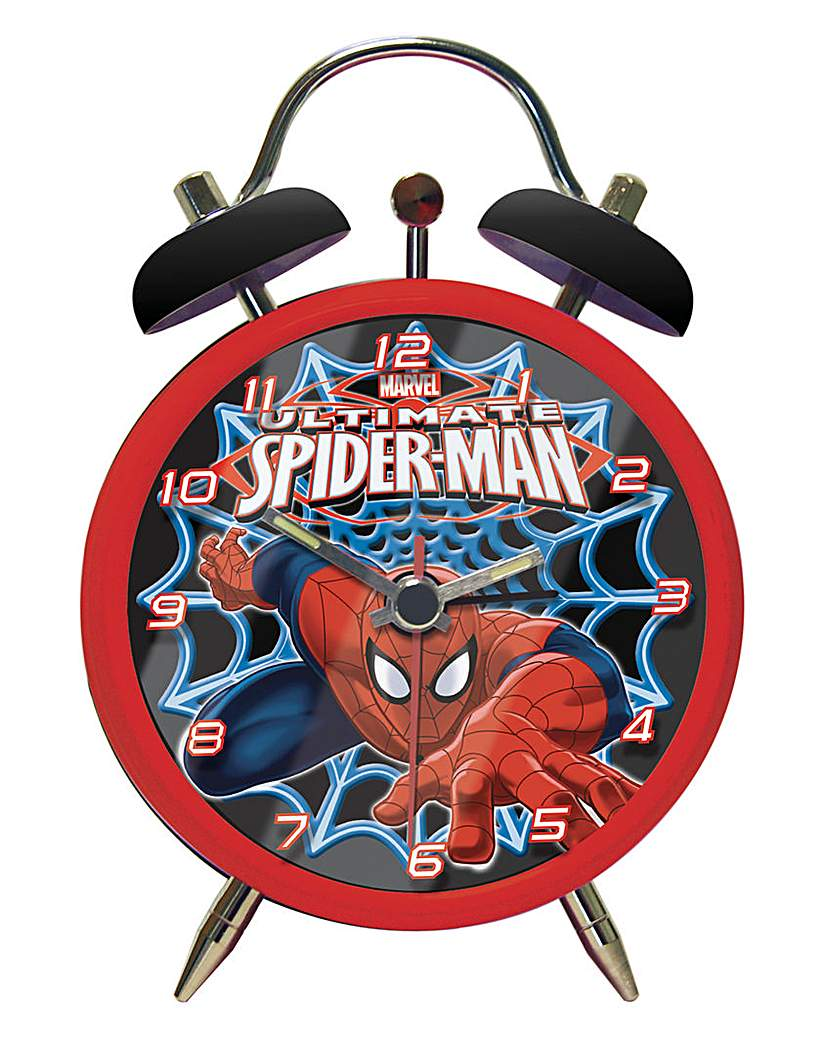 Image of Spiderman Twin Bell Alarm Clock