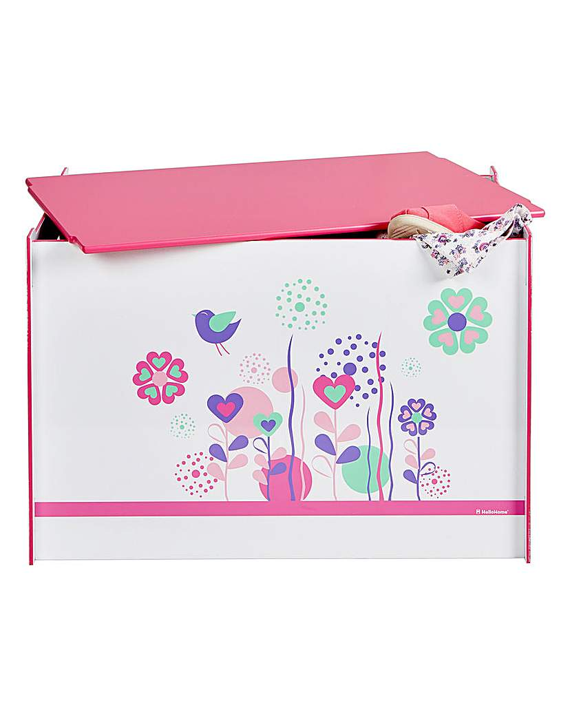Image of Flowers and Birdies Toy Box