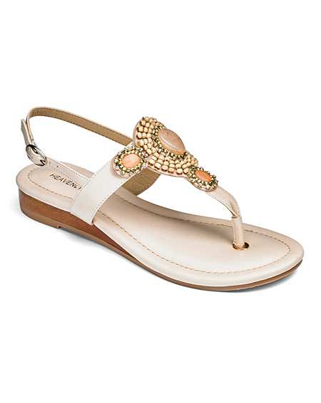 Womens wide fit toe post sandals