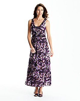 Print Maxi Dress Length 52 in.