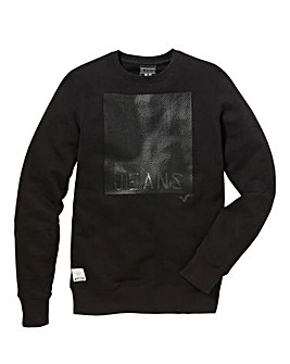 Voi Printed Crew Neck Sweatshirt