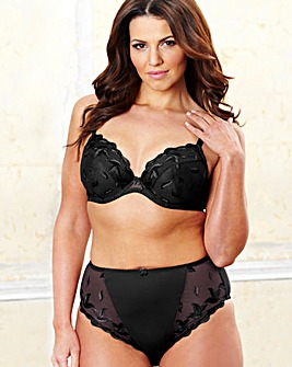 Ava Black White Plunge Bra Pack