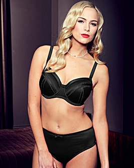 Splendour Underwired Black Balcony Bra
