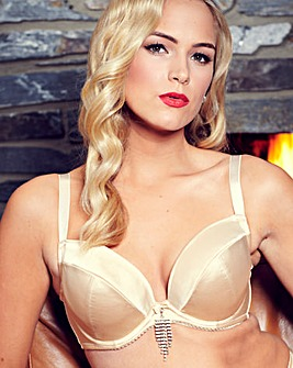 Splendour Underwired Gold Plunge Bra