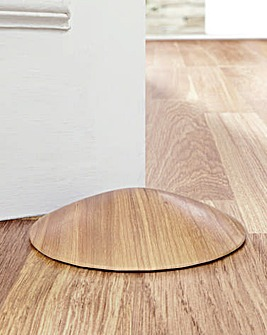 Toe Friendly Doorstop Wood Effect