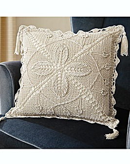Handmade Crochet Cushion Cover Pk 2