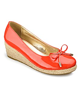 Sole Diva Bow Wedge Shoes E Fit