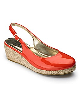 Sole Diva Slingback Shoes EEE Fit