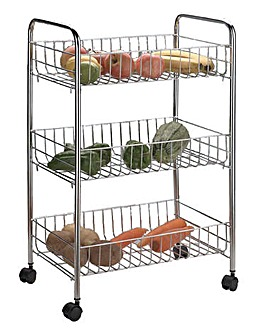 Chrome Robust Veg Trolley