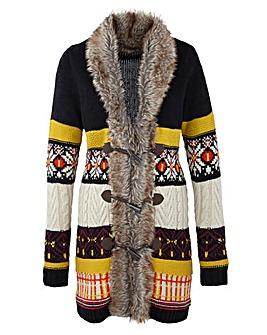 Fur Trim Cardigan
