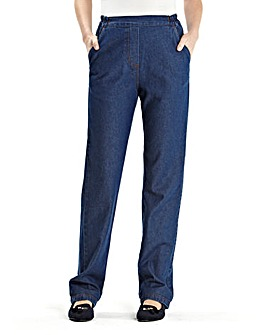 Suzy Pull On Cotton Jeans Length Long