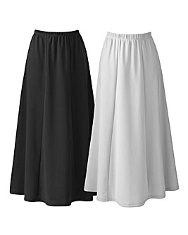 Pack of 2 Jersey Skirts Length 33in