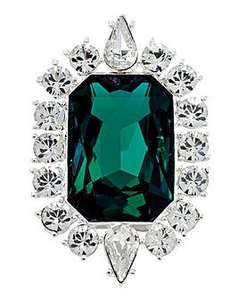 Emerald Crystal Brooch
