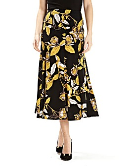 Printed Jersey Skirt Length 32in
