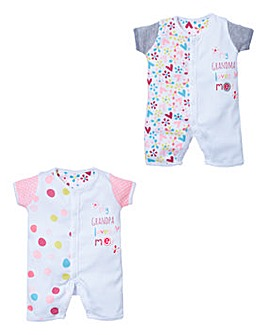 Lollipop Lane Girls 2pk Romper