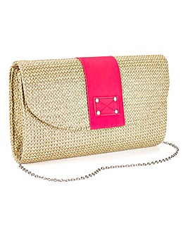 Raffia Clutch Bag