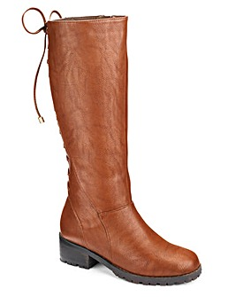 Simply Be Lace Up Back Boot E Fit