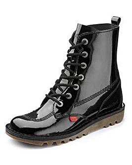 Kickers Kick So Hi Lace Up Patent Boots