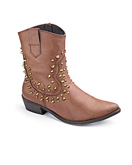 Studded Boots D Fit