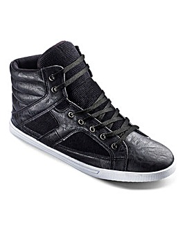 Label J Hi-Top Trainers Extra Wide Fit