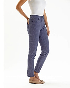 Spot Print Ankle Length Jeans