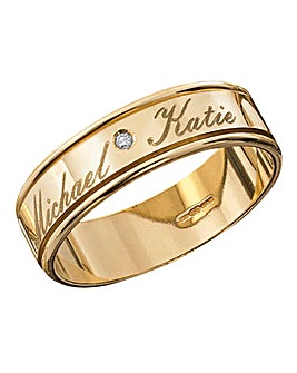 Ladies 9 Carat Gold Wedding Band
