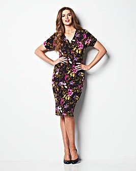 MAGISCULPT Print Jersey Dress 41in