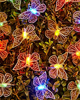Set of 80 Multicolour Butterfly Lights
