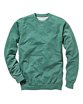 Label J Flecked Crew Sweatshirt Regular