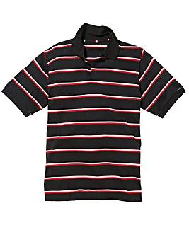 Jacamo Engineered Stripe Polo Shirt Reg