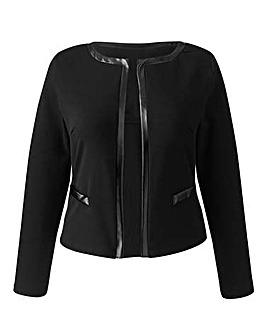 AX Paris Ponte Crop Jacket