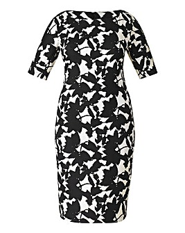 AX Paris Leaf Print Bodycon Dress