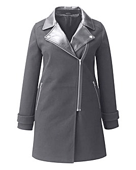 PU Collar Coat