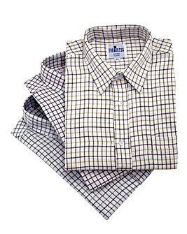Cotton Tattersall Shirts Pack of 3