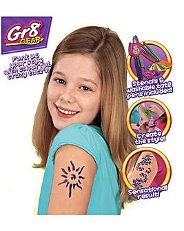 Gr8 Gear Girls Tat2 Tattoo Toy Pen