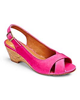 Top To Toe Slingback Wedge Sandals EEE
