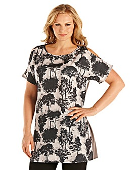 Ava By Mark Heyes Cut Out Shoulder Tunic